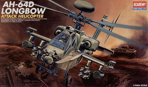 AH 64D Longbow Attack Helicopter 1:48