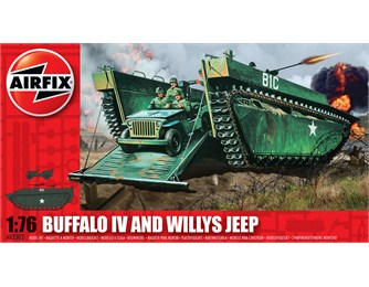 Buffalo Amphibian & Jeep 1:76