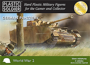 15mm World War 2 German Panzer IV - 5 vehicles