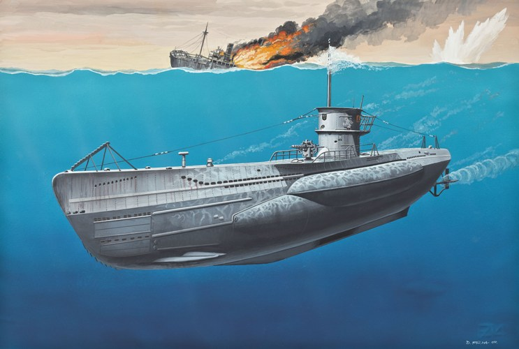 German Type VIIC U-Boat 1:350