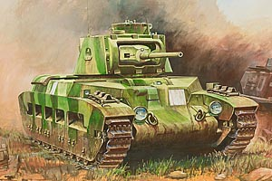 15mm World War 2 British Matilda II Tank - 1 vehicle